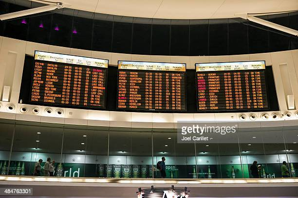 departures from ben gurion airport - israel - ben gurion airport stock photos and pictures