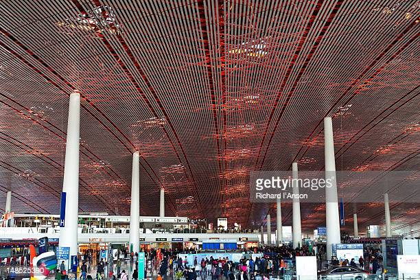 Departures hall at Beijing Capital Airport.