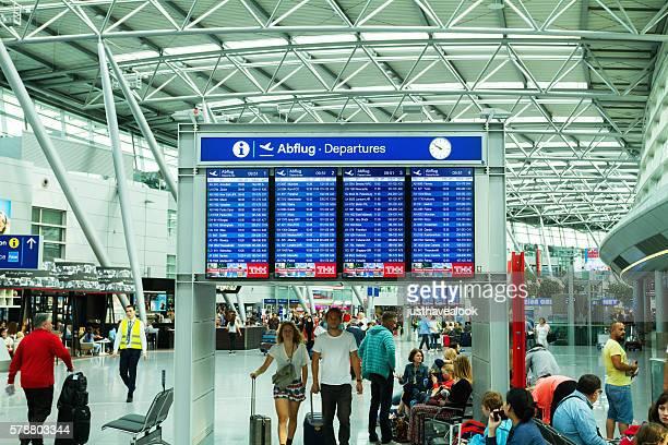 Depature timetable in airport Düsseldorf