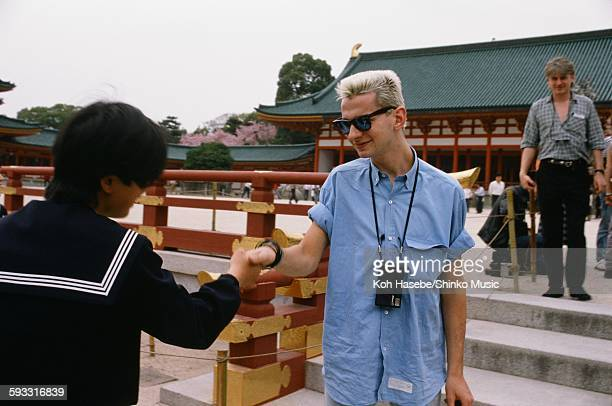 Depeche Mode David Gahan and a female high school student at Kiyomizu temple in Higashiyama Kyoto Kyoto April 1985