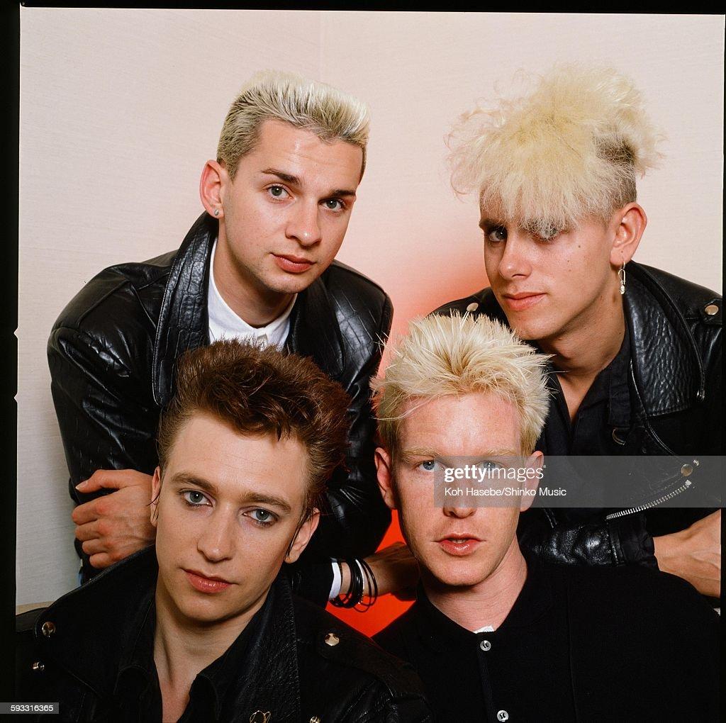 Depeche Mode Group Shot At Photo Studio In Tokyo : News Photo