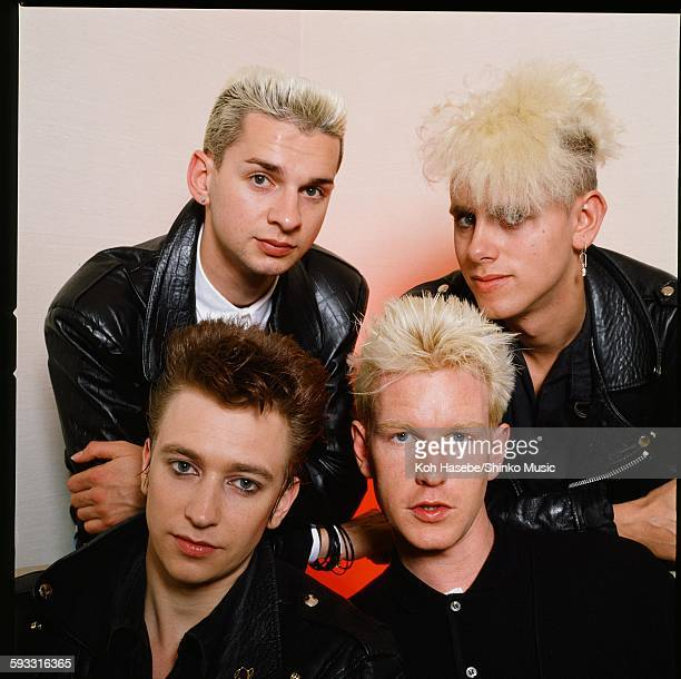 Depeche Mode group shot at photo studio in Tokyo, April 1985.