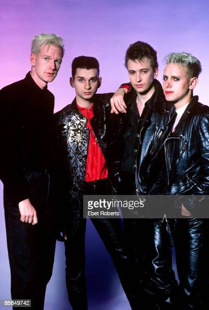 UNITED STATES Photo of DEPECHE MODE From left to right Andy Fletcher Dave Gahan Alan Wilder and Martin Gore