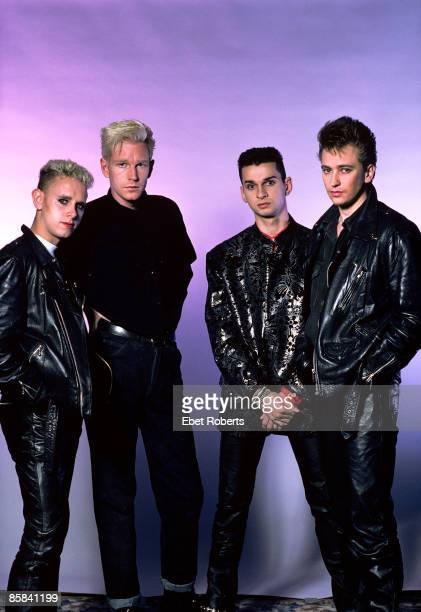 Depeche Mode photographed at the Jones Beach Theater in Wantagh, New York on June 13, 1986. Martin Gore, Andy Fletcher, Dave Gahan, and Alan Wilder.