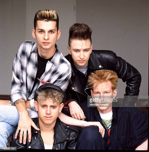 Depeche Mode studio group portrait Berlin July 1984 clockwise from top left Dave Gahan Alan Wilder Andrew Fletcher Martin Gore