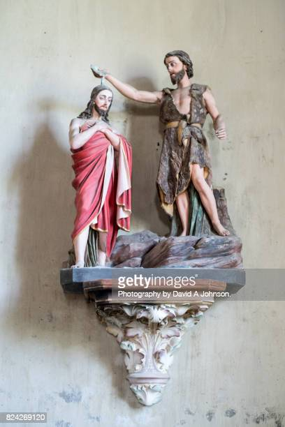 depiction of john the baptiste-plougonven - john the baptist stock photos and pictures