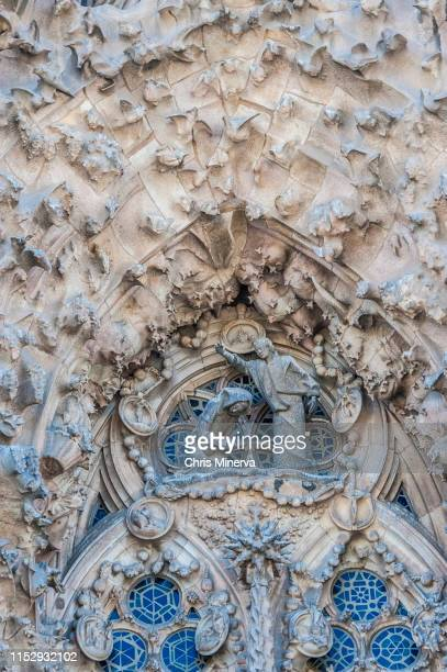 depiction of the annunciation of mary - sagrada familia - religious event stock pictures, royalty-free photos & images