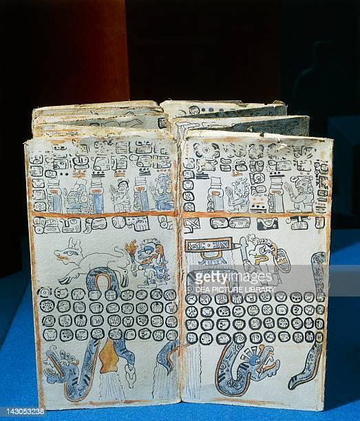 Depiction of the God Quetzalcoatl from Maya Code Mexico Mayan Civilization Mexico City Museo Nacional De Antropología