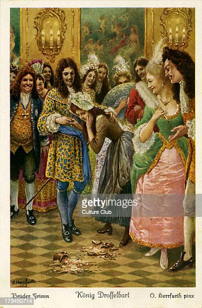 Depicts the princess breaking the pots which contained leftover food for her and husband The prince reveals he is King Drosselbart and was pretended...