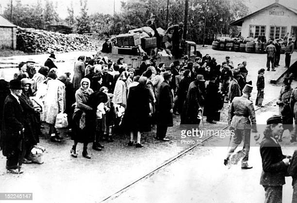 Deportation of Jews at Kosseg Germany World War II Private collection