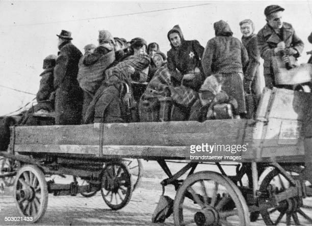 Deportation of Jews. Photograph. Ca. 1942. .