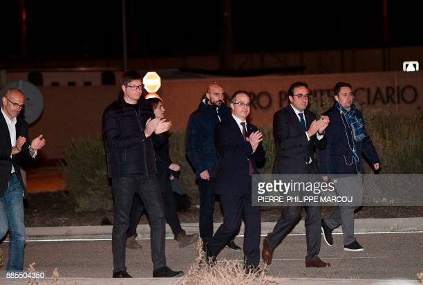 TOPSHOT Deposed Catalan regional government foreign relations chief Raul Romeva Deposed Catalan regional government justice chief Carles Mundo...