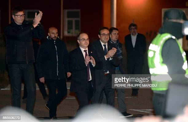 Deposed Catalan regional government justice chief Carles Mundo Deposed Catalan regional government spokesperson Jordi Turull and Deposed Catalan...