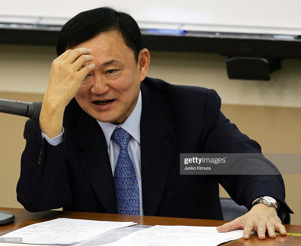 Deposed Thai Prime Minister Teaches At Takushoku University : News Photo