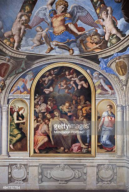 Deposition of Christ by Bronzino 15401545 16th Century fresco Italy Tuscany Florence Palazzo Vecchio Chapel of Eleonora Whole artwork view In the...