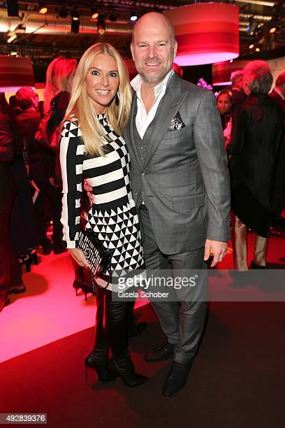 Depot Christian Gries and his wife Sandra Gries arrive for the Tribute to Bambi 2015 at Station on October 15 2015 in Berlin Germany