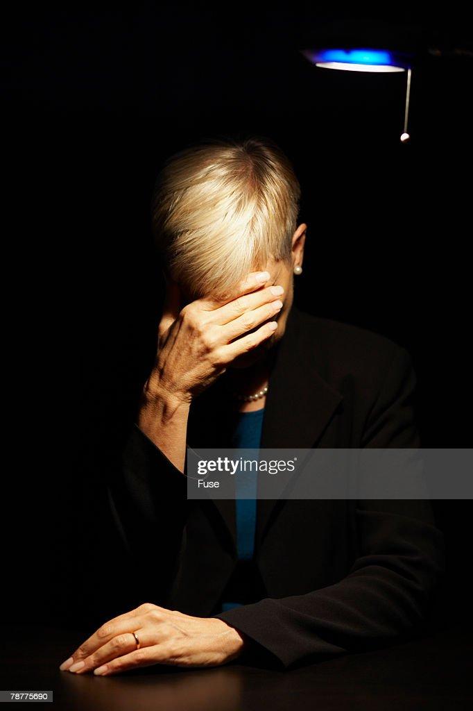 Depressed Businesswoman : Stock Photo