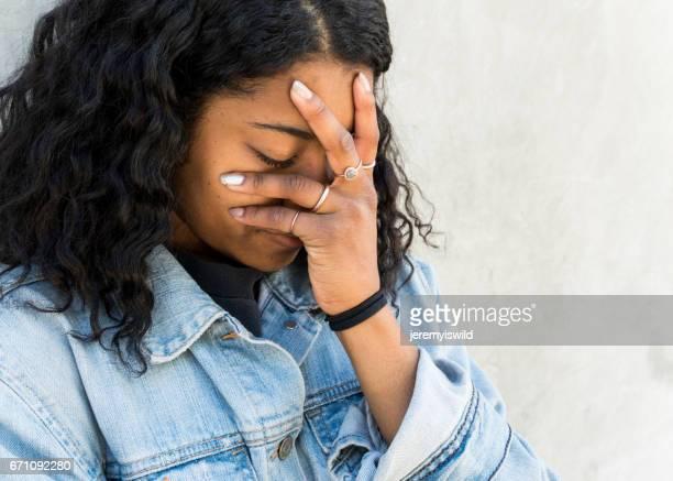Depressed Teen Crying
