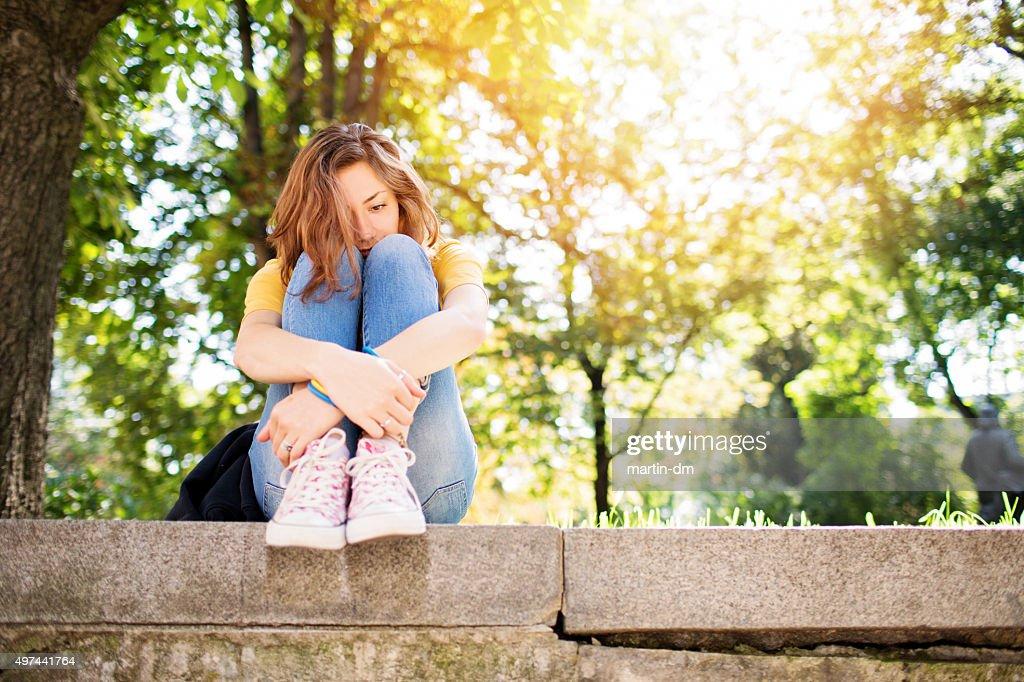 Ein deprimierter Teenager-Mädchen : Stock-Foto