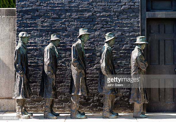 Depression Bread Line sculpture by George Segal