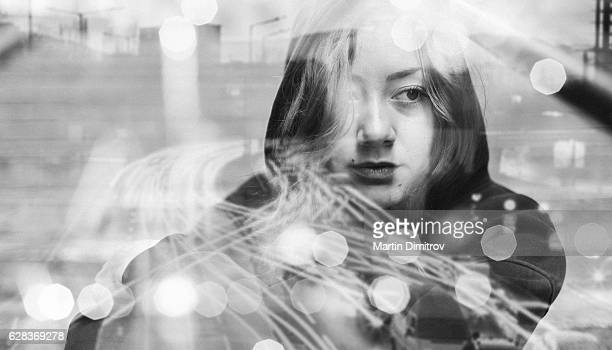 depression in teenage girls - suicide stock photos and pictures