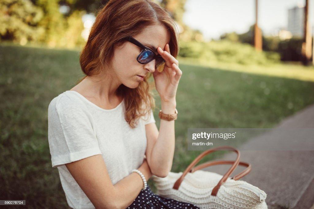 Depression in women : Stockfoto