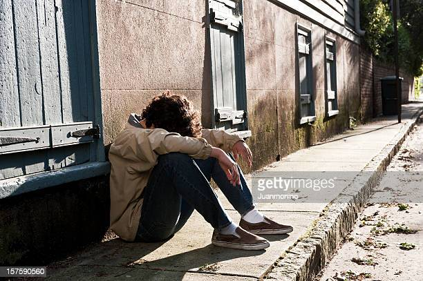 depression - one teenage boy only stock pictures, royalty-free photos & images