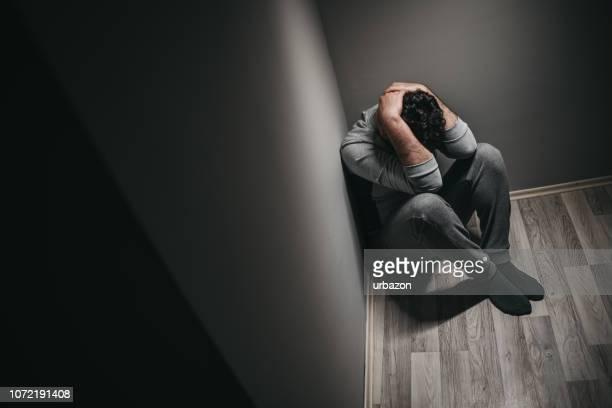 Depressiver Mann