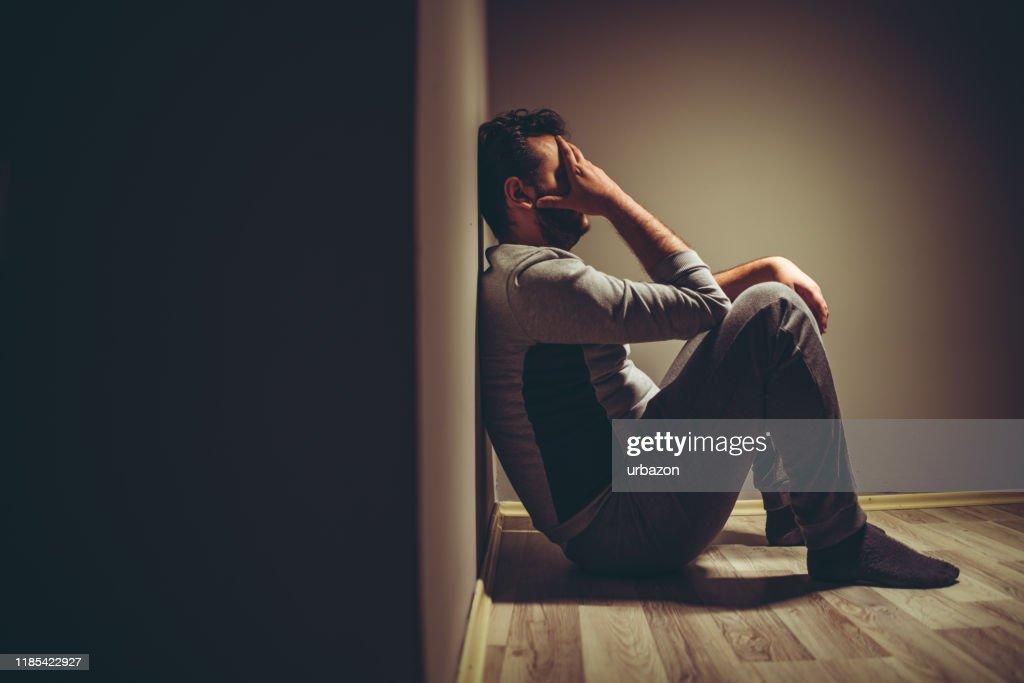 Depressieve man : Stockfoto
