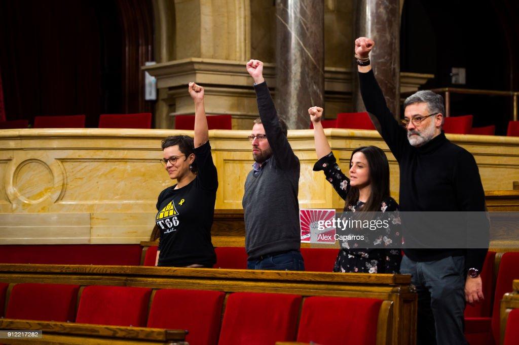 Catalan Parliamentary Session Of Investiture : Fotografía de noticias