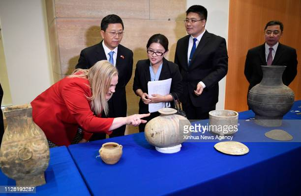 INDIANAPOLIS FEBRUARY 2 2019 Deputy Administrator of China's National Cultural Heritage Administration Hu Bing 2nd L Minister of the Chinese Embassy...
