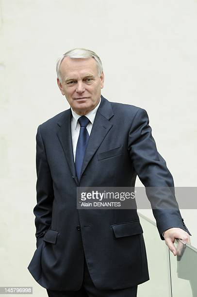 Deputy and mayor of Nantes Jean Marc Ayrault on April 27 2012 in Nantes Western France President of the Socialist Group in the National Assembly he...