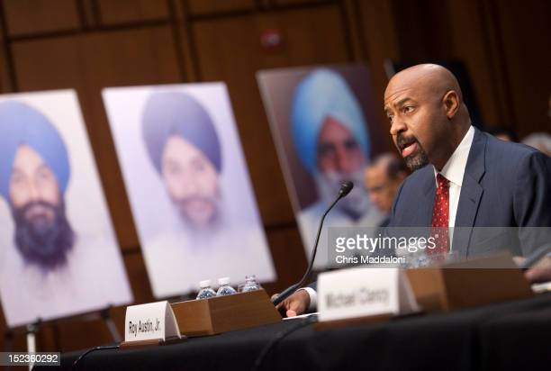 Deputy Assistant Attorney General Roy Austin Civil Rights Division Department of Justice testifies before a Senate Judiciary Constitution Civil...