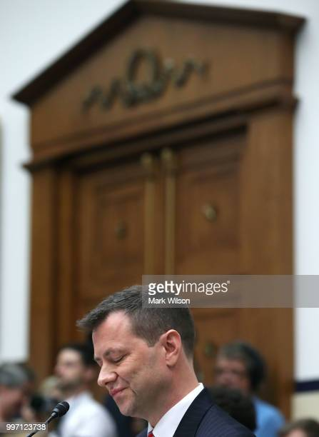 Deputy Assistant FBI Director Peter Strzok listens to questions during a joint committee hearing of the House Judiciary and Oversight and Government...