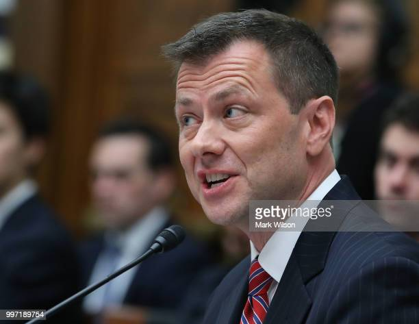 Deputy Assistant FBI Director Peter Strzok speaks during a joint committee hearing of the House Judiciary and Oversight and Government Reform...