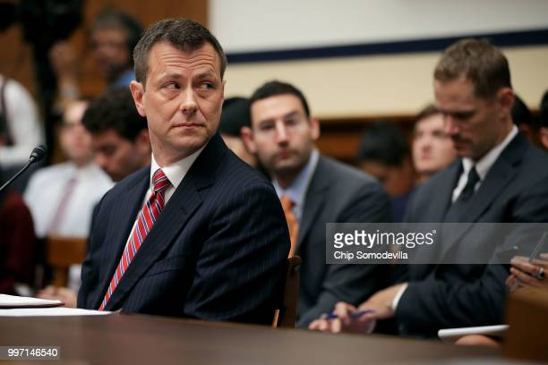 Deputy Assistant FBI Director Peter Strzok testifies before a joint committee hearing of the House Judiciary and Oversight and Government Reform...
