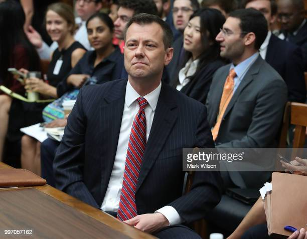 Deputy Assistant FBI Director Peter Strzok waits to testify before a joint committee hearing of the House Judiciary and Oversight and Government...