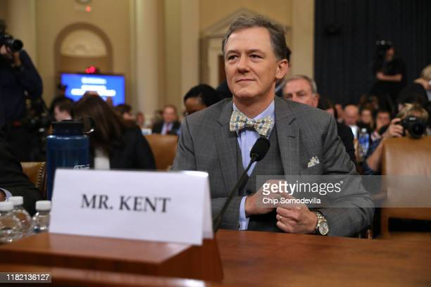 Deputy Assistant Secretary for European and Eurasian Affairs George P. Kent waits to testify before the House Intelligence Committee in the Longworth...