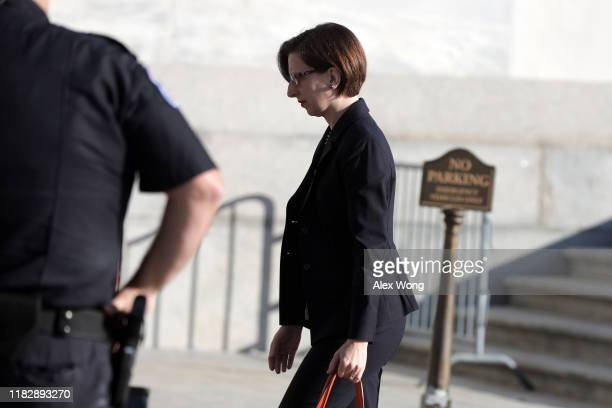 S Deputy Assistant Secretary of Defense Laura Cooper arrives at a closed session before the House Intelligence Foreign Affairs and Oversight...