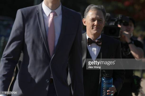 S Deputy Assistant Secretary of State for European and Eurasian Affairs George Kent arrives at a closed session before the House Intelligence Foreign...
