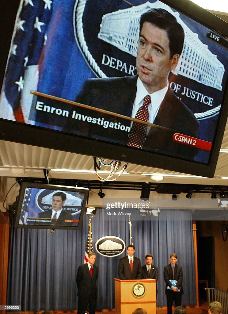 Justice Department Releases Indictment In Enron Case