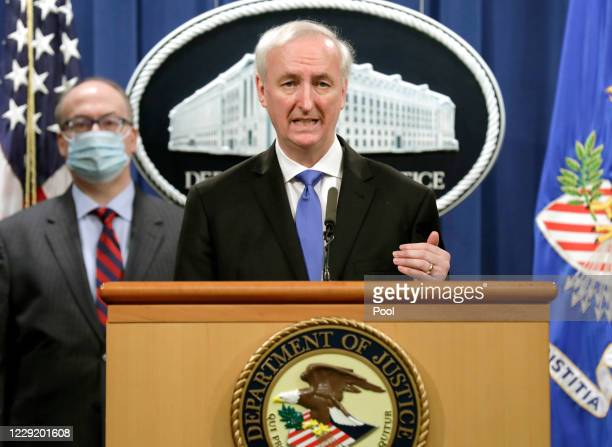 Deputy Attorney General Jeffrey Rosen holds a news conference to announce the results of the global resolution of criminal and civil investigations...