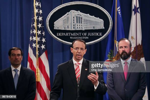 S Deputy Attorney General Rod Rosenstein Acting Principal Associate Deputy Attorney General Edward O'Callaghan and Assistant Attorney General John...