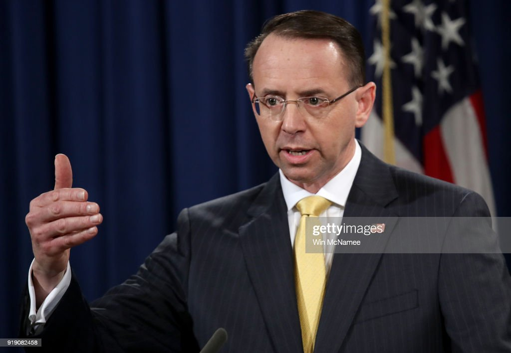 Deputy AG Rod Rosenstein Releases New Indictment Against 13 Russians For Election Interference