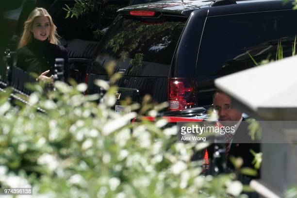 S Deputy Attorney General Rod Rosenstein arrives at the White House to brief President Donald Trump the Justice Department Office of Inspector...