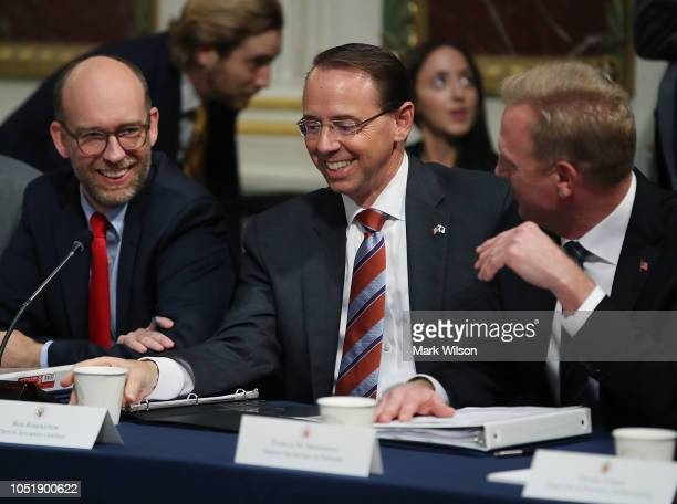 Deputy Attorney General Rod Rosenstein attends the annual meeting of President's Interagency Task Force to Monitor and Combat Trafficking in Persons...