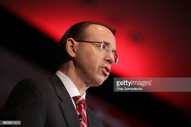 S Deputy Attorney General Rod Rosenstein delivers keynote remarks on 'Justice Department Views on Corporate Accountability' during the The Annual...