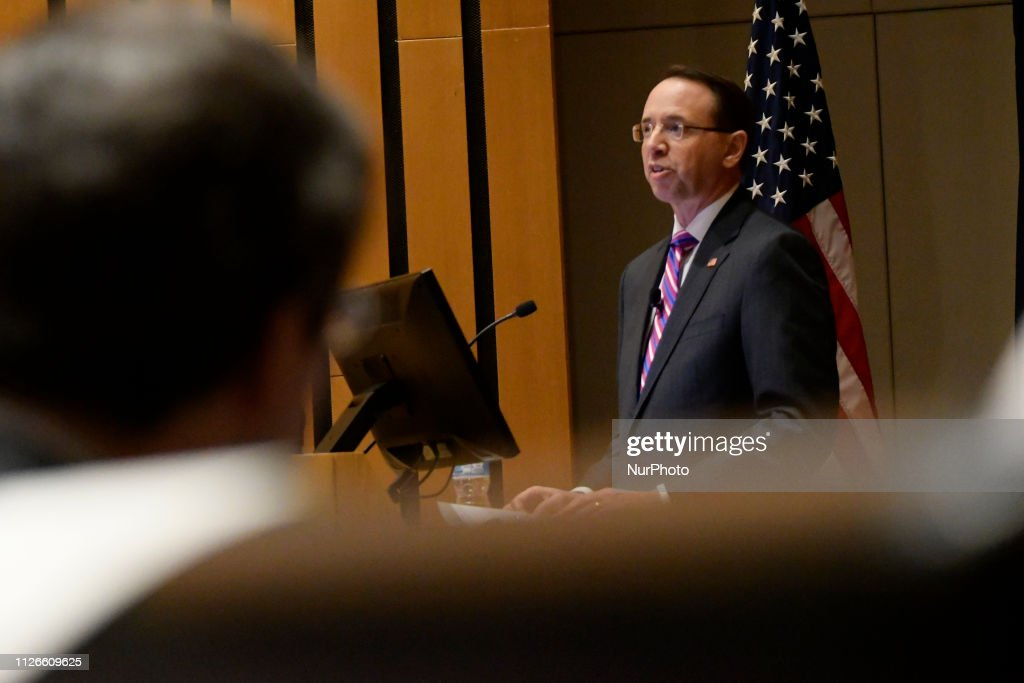 PA: Deputy Rosenstein Speaks At Wharton School In Philadelphia