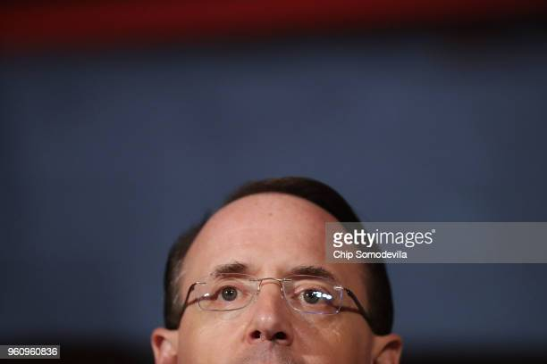 S Deputy Attorney General Rod Rosenstein delivers remarks on 'Justice Department Views on Corporate Accountability' during the The Annual Conference...