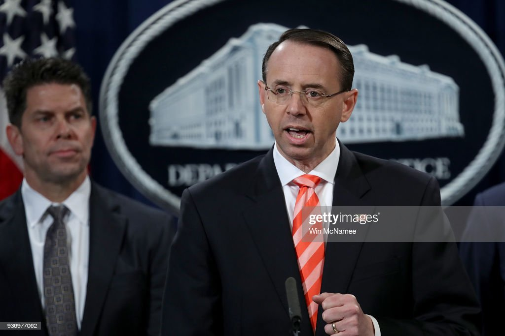 Deputy AG Rosenstein Makes Announcement On Major Cyber Law Enforcement Action